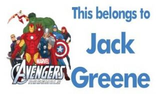 Personalised Avengers Assemble School Book Stickers